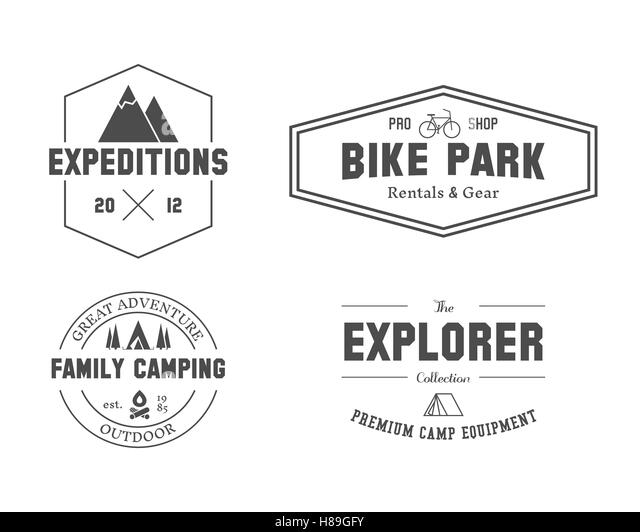Mountain Bike Vector Logo Design Cut Out Stock Images