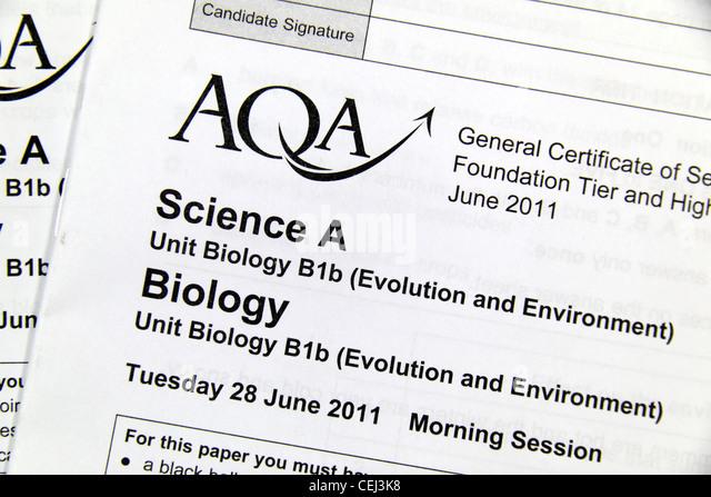 Gcse Exam Paper Stock Photos & Gcse Exam Paper Stock