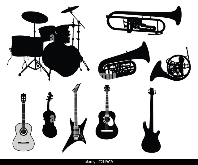 Illustration Collection Musical Instrument Symphony Stock
