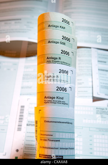 Berlin Tax Forms Stock Photos & Berlin Tax Forms Stock