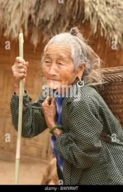 woman long hair laos stock