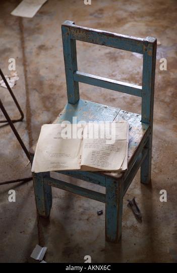 Abandoned School Chair Stock Photos & Abandoned School