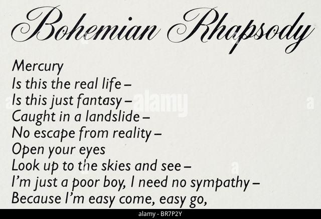 Bohemian Rhapsody Queen Stock Photos & Bohemian Rhapsody