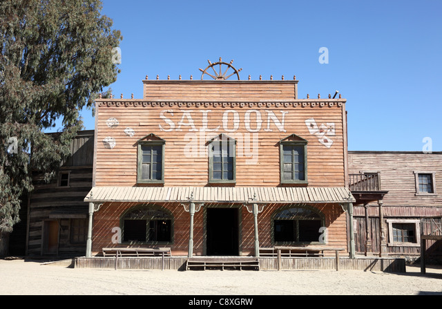 ghost chair replica outdoor portable chairs folding wild west saloon stock photos & images - alamy