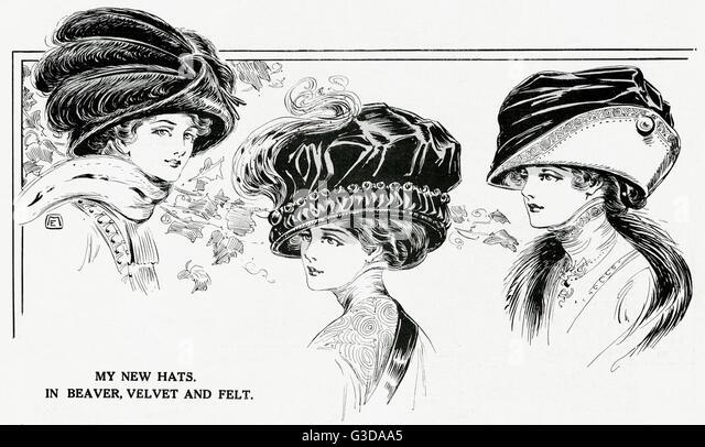 Womens Fur Hats Stock Photos & Womens Fur Hats Stock