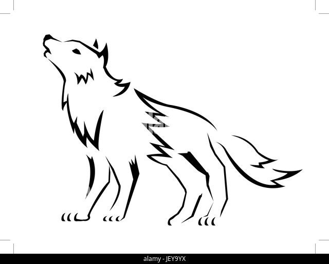 Howling Dog Night Stock Photos & Howling Dog Night Stock