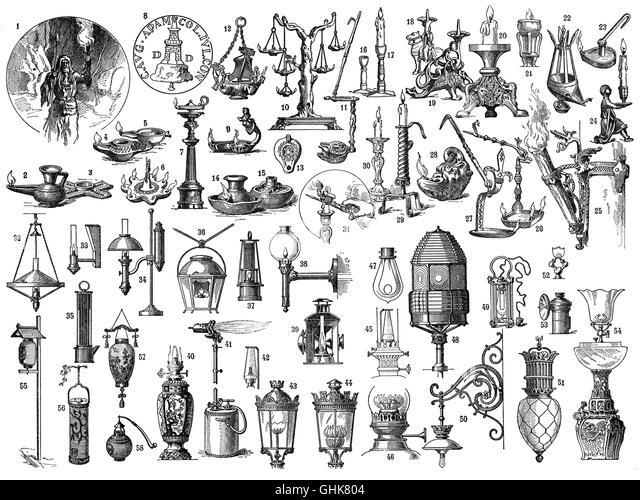 Argand Oil Lamp Stock Photos & Argand Oil Lamp Stock