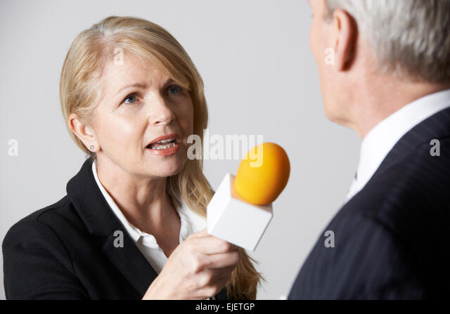 Person Being Interviewed Reporter
