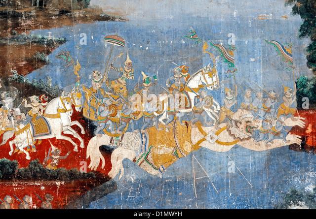 Ramayana Murals Stock Photos & Ramayana Murals Stock