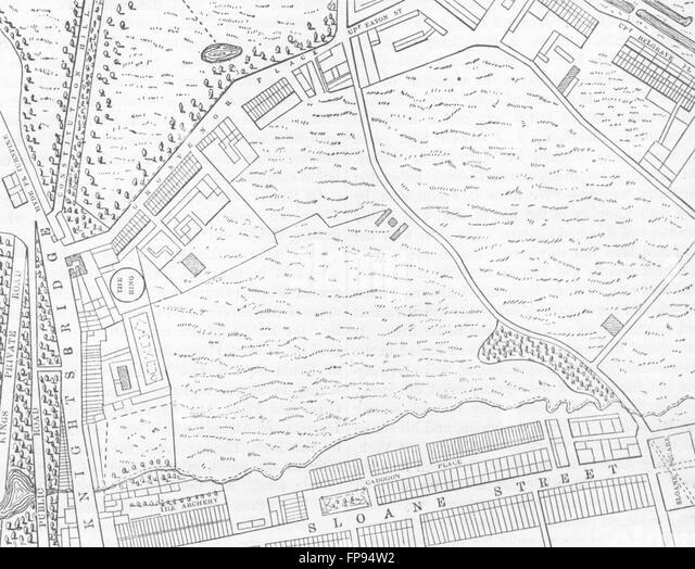 London Map 19th Century Stock Photos & London Map 19th
