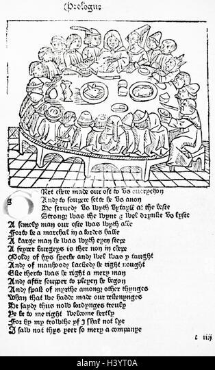 Canterbury Tales Pilgrims Stock Photos & Canterbury Tales