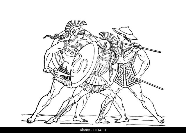 Ancient Greek Soldiers Stock Photos & Ancient Greek