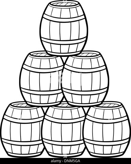 Alcohol Bottles Collection Stock Illustration