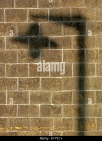 Shadow Of A Lamppost On A Wall Stock Photos & Shadow Of A ...
