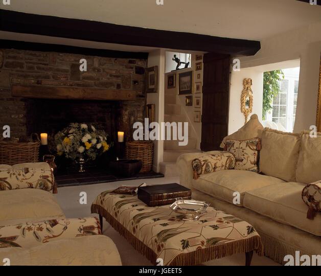john lewis loose chair covers the salon and spa harrington de inglenook fireplace stock photos & images - alamy
