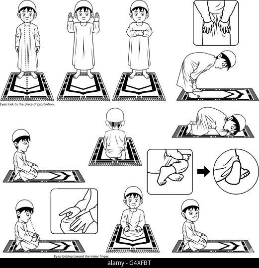 Muslim Position Stock Photos & Muslim Position Stock
