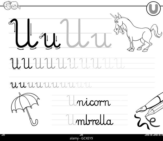 Coloring Alphabet For Kids Stock Photos & Coloring
