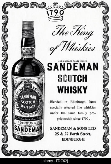 Whisky Scotch Advert Stock Photos & Whisky Scotch Advert