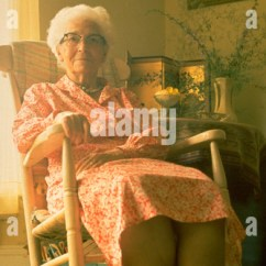 Fast Table Chair Duck Blind Old Woman Rocking Stock Photos & Images - Alamy