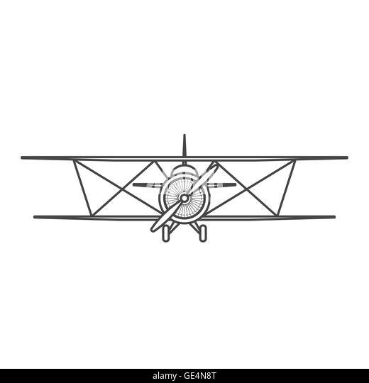 Propeller Airplane Black and White Stock Photos & Images