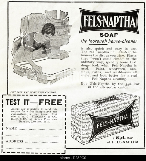 Vintage Advertisement For Soap Stock Photos & Vintage