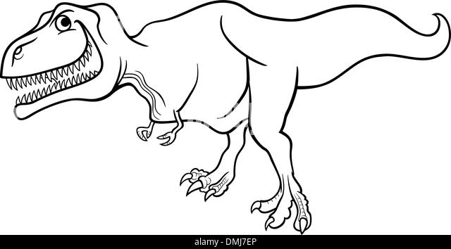 T Rex Looking For Food Coloring Page T Rex Looking For
