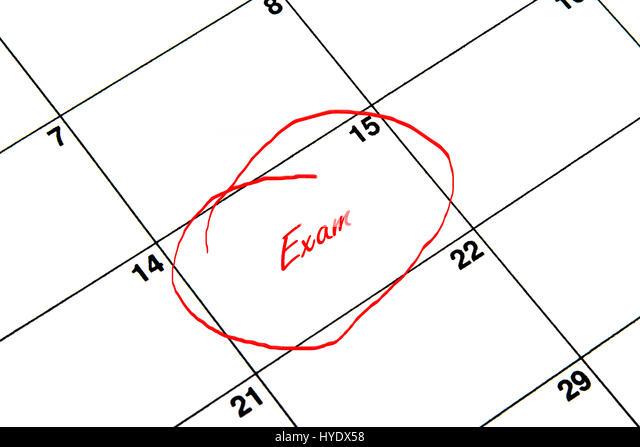 Calendar Date Circled Stock Photos & Calendar Date Circled