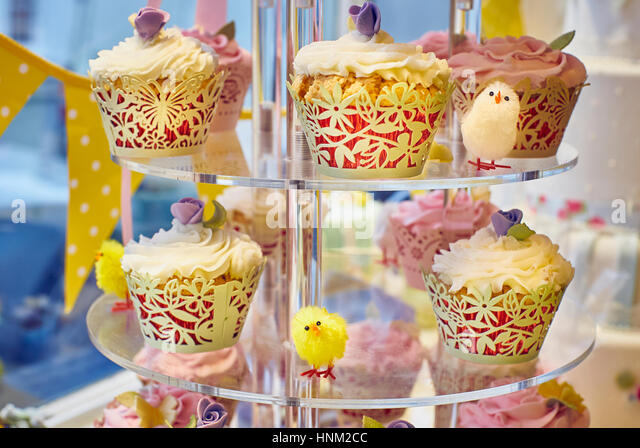 Easter Display Window Decoration Stock Photos & Easter