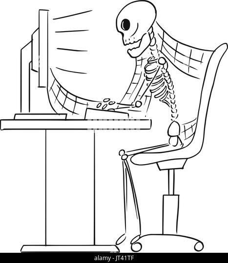 Skeleton Sitting Chair Stock Photos & Skeleton Sitting