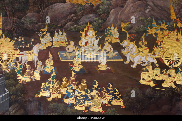 Ramayana Murals Stock Photos & Ramayana Murals Stock