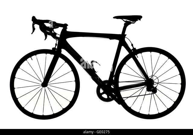 Mountain Bike Silhouette Isolated On White Background