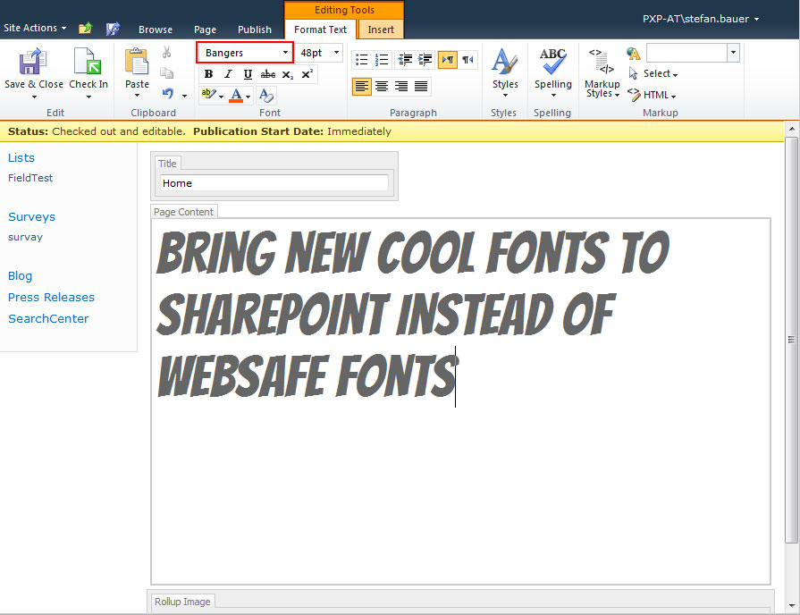Use @font-face in Rich Text Editor of SharePoint 2010 | Stefan Bauer