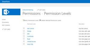 Step 1 - create permission level