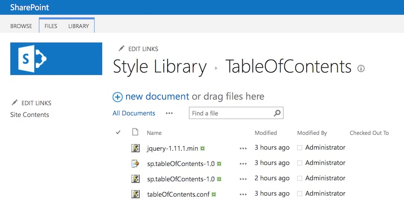 Files inside Style Library