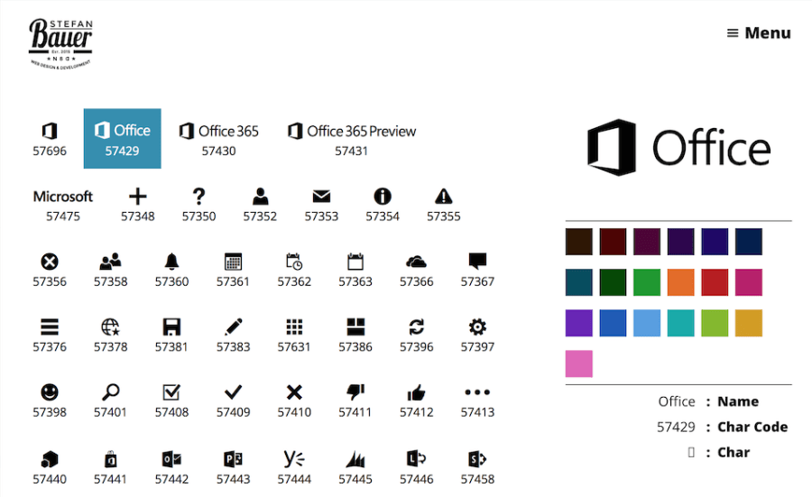 Office 365 Glyphs - Preview