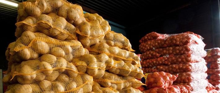 Мешки картошки