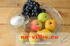 Компот из винограда и груш в мультиварке - рецепт пошаговый с фото