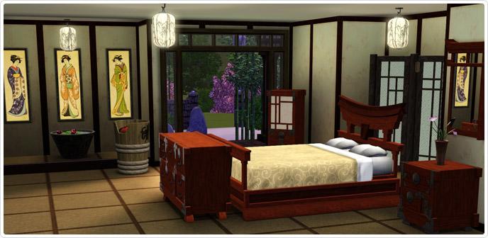 Imperial Bedroom Zen  Store  The Sims 3