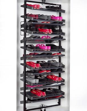 revolving shoe system rotating rack