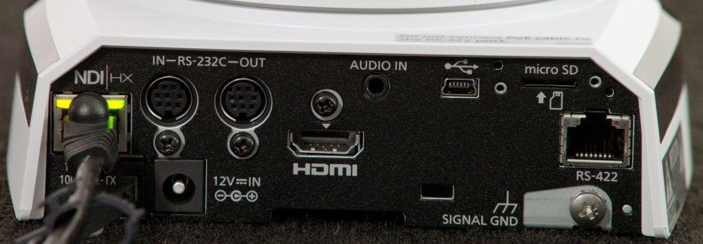 AW-HN38H PTZ Camera Rear Input Outputs NDI