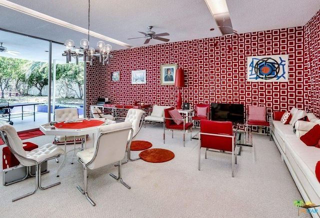 Red and white game room