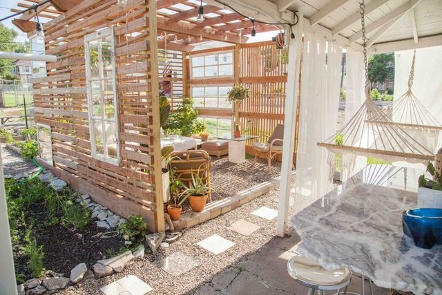 A Nebraska renter created a low-cost, outdoor space.