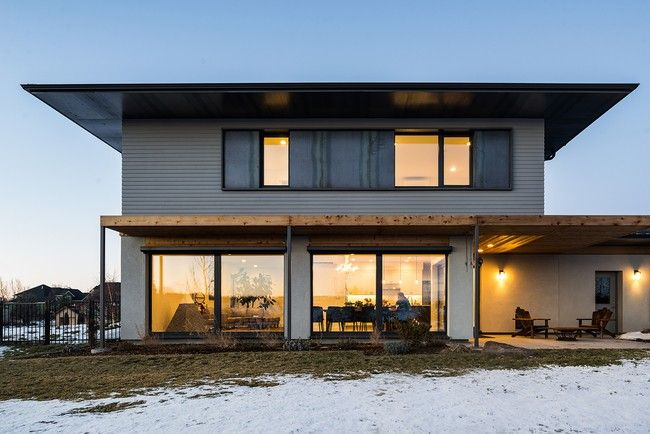 The Vonde family's passive house in Boise, ID, means cozy winters and low energy bills.