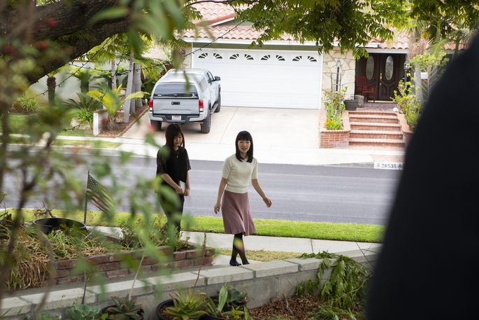 Marie Kondo and her assistant/interpreter show up at a client's home.