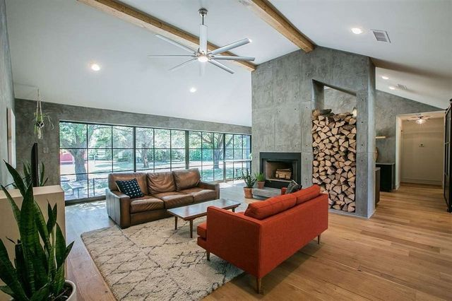 Fireplace as focal point