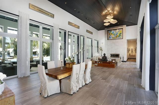 Open layout with glass doors