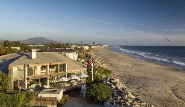 Beachfront setting
