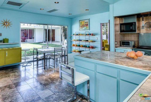 Robin egg blue kitchen