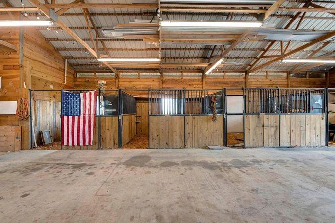 Four-stall horse barn