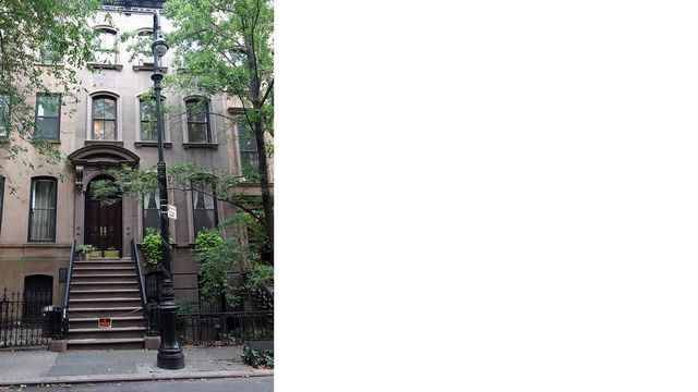 The brownstone of Carrie Bradshaw, fictionally on the Upper East Side but really in Greenwich Village.